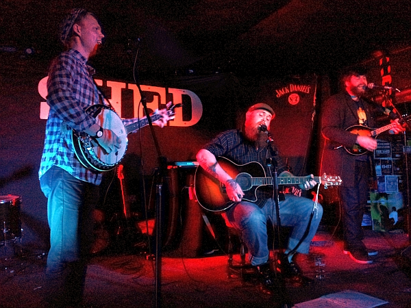 The Blueshine Brothers on stage at The   Shed.