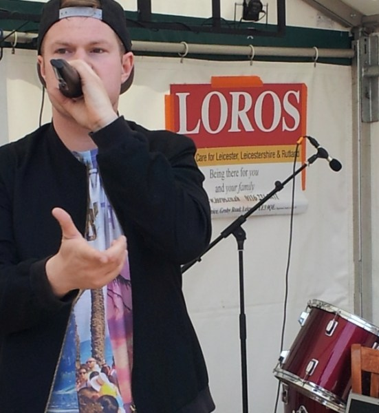 Jonezy performing at Enderby