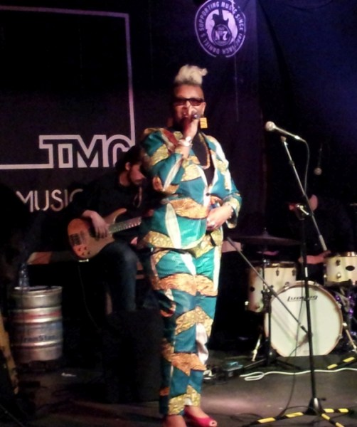 Carol Leeming at The Music Cafe compering Project:Live