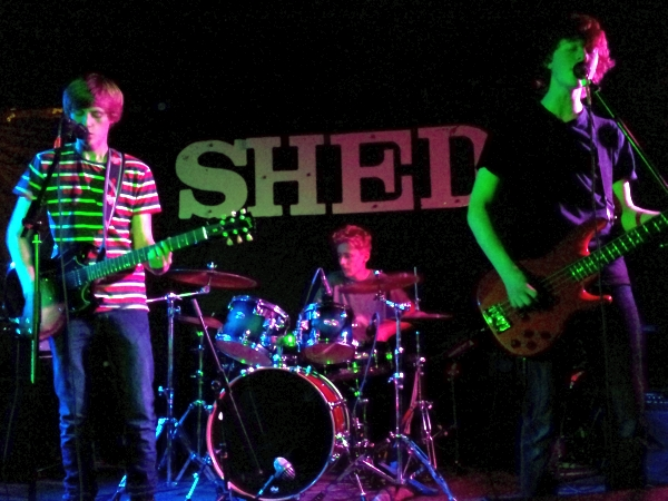 Kynch on stage at The Shed