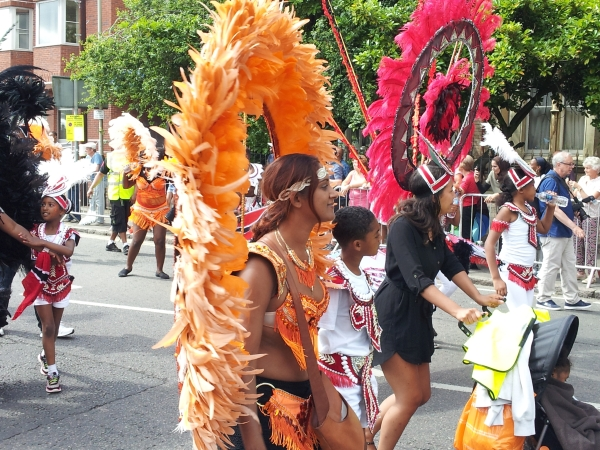 Dancers at Leicester's Caribbean carnival 2016