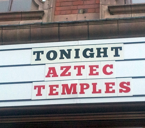 Tonight Aztec Temples at The Cookie, July 2016