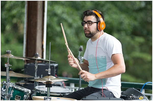 The drummer from French Leave playing at the Western Park festival 2016. Photo: Pascal Pereira photography.