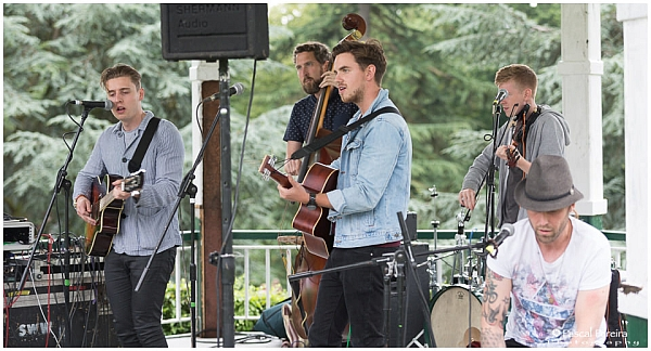 Idle Empire playing at the Western Park festival 2016. Photo: Pascal Pereira photography.
