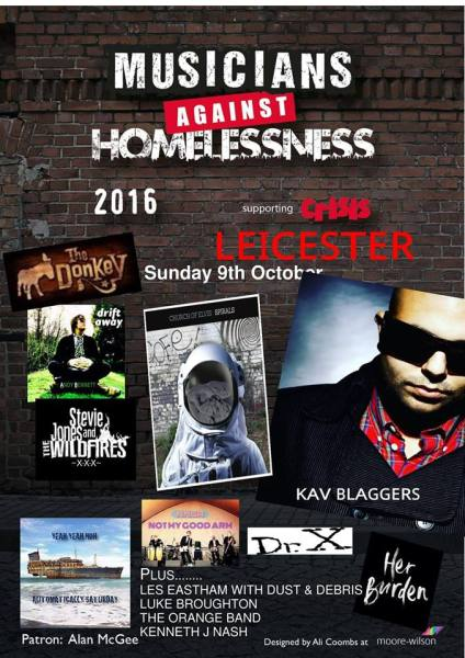 Musicians Against Homeless at The Donkey on Sunday 9th October