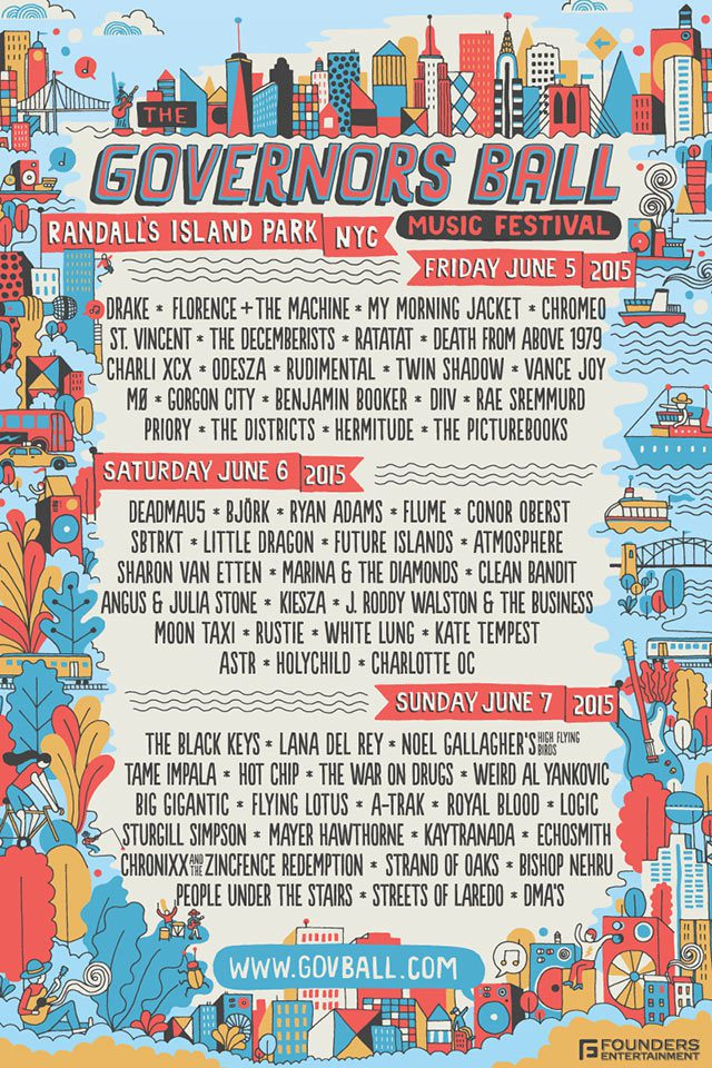 Check out the Governor's Ball 2015 Lineup!