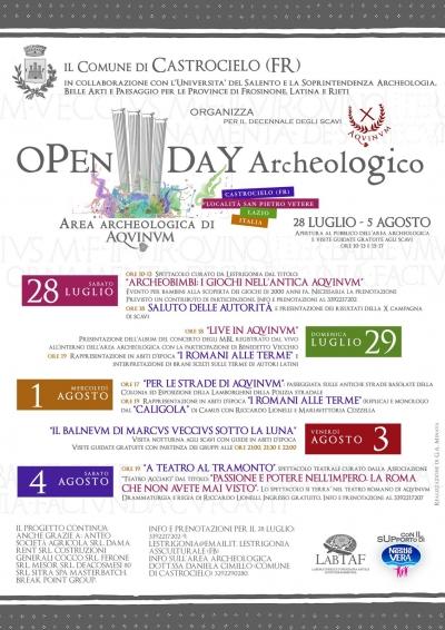 openday archeologico