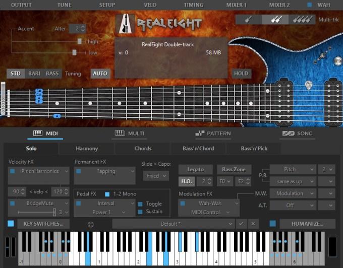 MusicLab RealEight for Mac 4.0.07433 激活版 - 传奇8弦电吉他