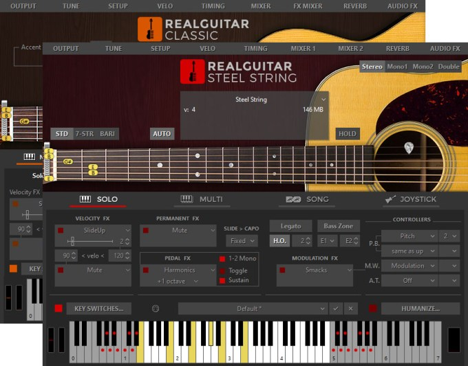 MusicLab RealGuitar 5.0.2.7433 Mac 破解版 - 木吉他音源采样软件