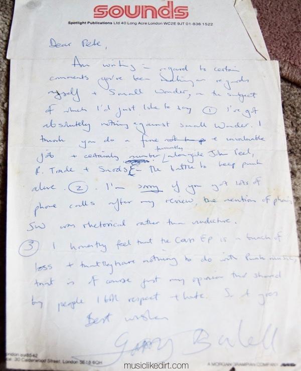 Gary Bushall Small Wonder letter