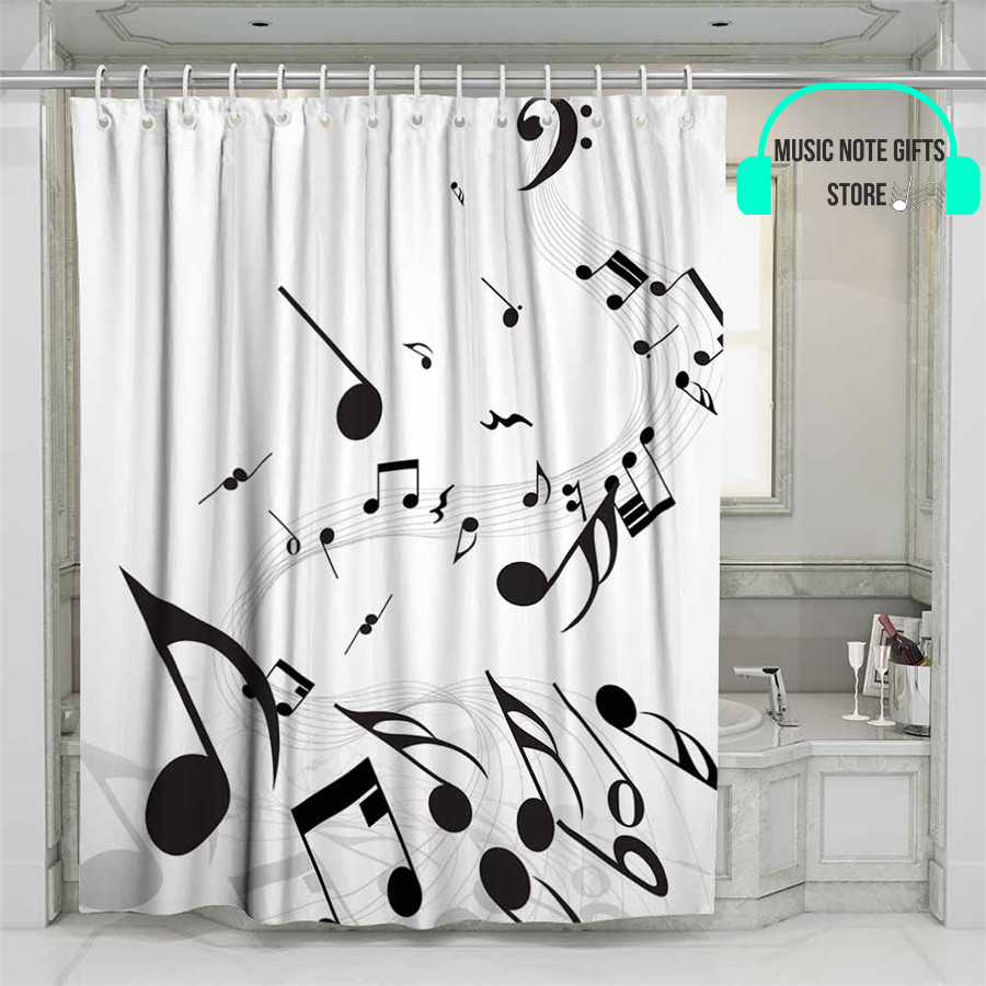 music themed shower curtains music