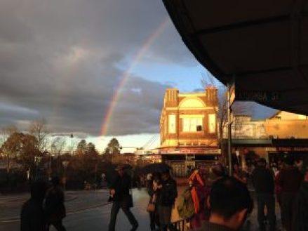 Double Rainbow near the Carrington