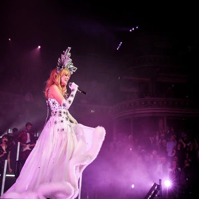 Kylie Minogue at the Royal Albert Hall