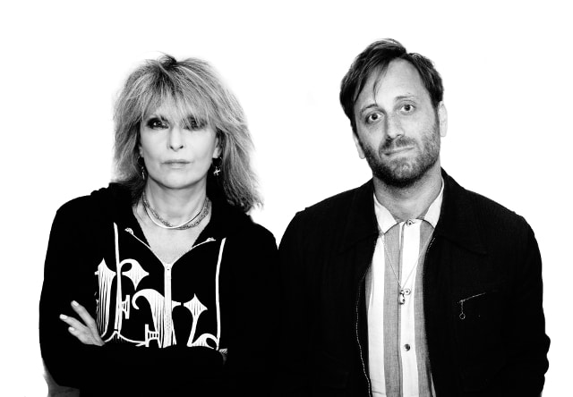 Chrissie Hynde and producer Dan Auerbach (Photo - Jill Furmanovsky)