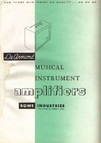 1961/1962 Amps catalog, four pages