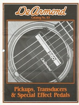 1983 dated Black & orange catalog, four pages.