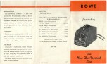 1955 dated Orange fold-out, double-sided,, double-sided, showing Model 60 Tremolo