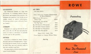 1955 - Orange fold-out, double-sided, showing Model 60 Tremolo.