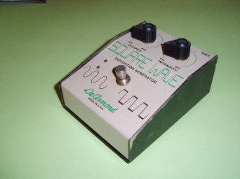 Model 1700 Square Wave distortion pedal, requires integral 9V battery driving a printed circuit-board.