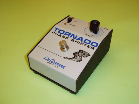 Model 1920 Tornado phase shifter pedal, requires integral 9V battery driving a printed circuit-board