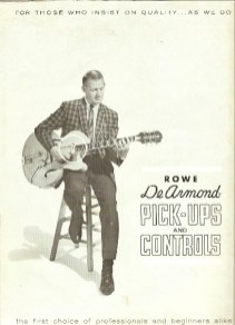 1963* Pale green catalog with Epiphone guitar, four pages