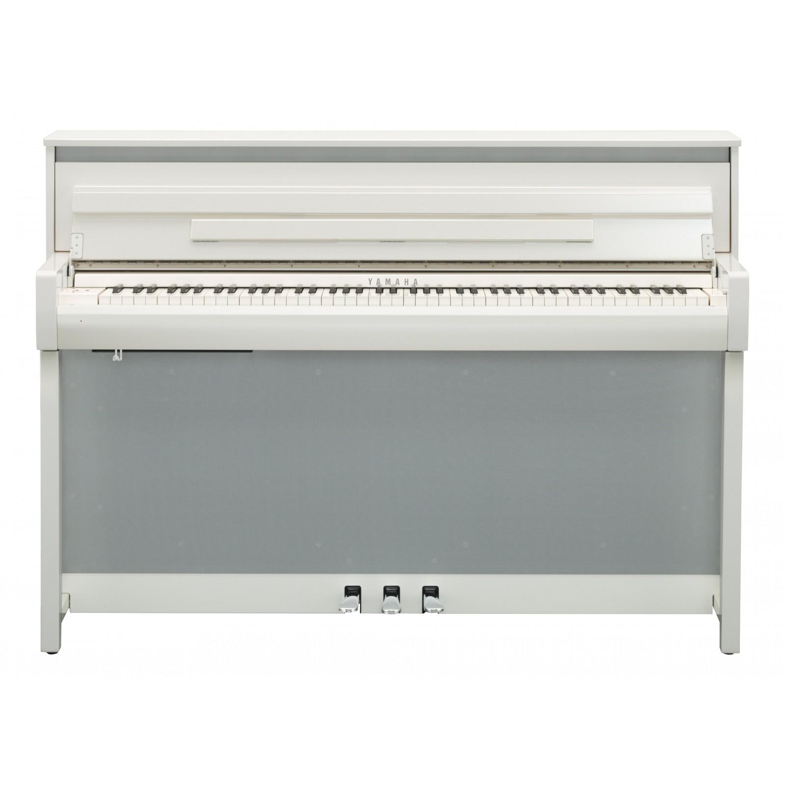 yamaha clp685pwh piano numerique blanc laque touches bois