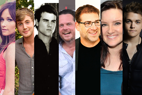 Breakthrough Songwriters (L-R): Kacey Musgraves, Jimmy Robbins, Ross Copperman, Jim McCormick, Barry Dean, Brandy Clark, Hunter Hayes