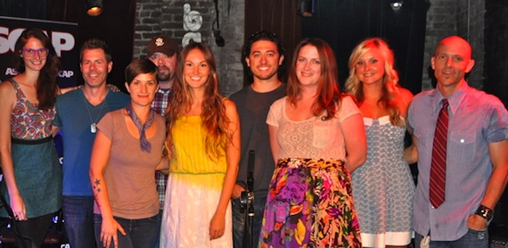 Pictured (L-R): Femke, Trevor Rosen, Megan McCormick, Tommy Karlas, ASCAP's Evyn Mustoe, Frank Maroney, Molly Martin, and Paperhouse's Megan Connor and Shane Hines.