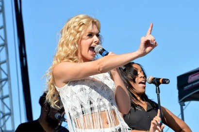 "Laura Bell Bundy performs her single ""Two Step"" on the Brickfest stage."