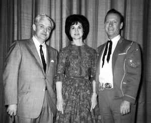 Pictured (L-R): Smokey Smith with Kitty Wells and Johnny Wright