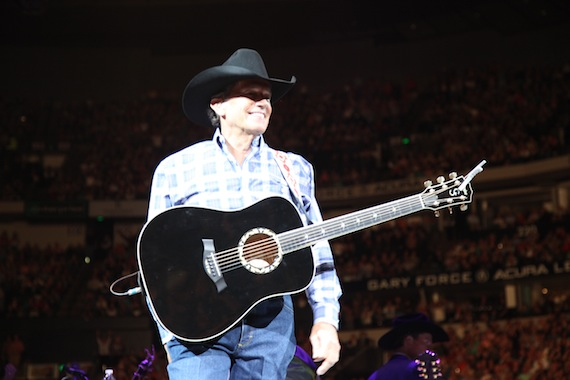George Straitp performs at Nashville's Bridgestone Arena on March 21, 2014. Photo: Jill Trunnell