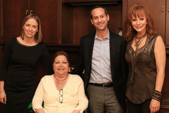 Pictured (L-R): Dr. Leora Horn, Dawn Sears, Dr. Pierre Massion, Reba McEntire. Photo: Bev Moser
