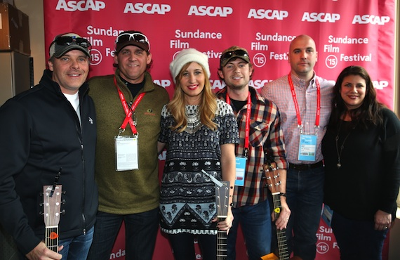 Pictured (L-R): Kelley Lovelace, Neil Thrasher, Jessi Alexander, Brandon Lay, ASCAP's Robert Filhart and the Country Music Association's Vilma Salinas. All photos by ASCAP's Erik Philbrook.