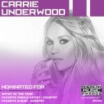 Carrie Underwood Leads Nashville Nominees At American Music Awards
