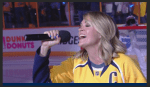 Carrie Brings Luck To Mike Fisher And The Preds At Monday Night's Blackhawks Matchup
