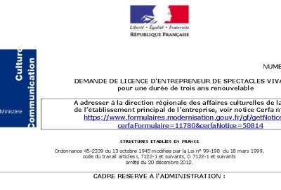 licence entrepreneur