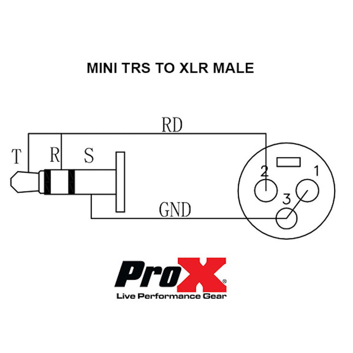 5 Ft Audio Cable 1 8 3 5mm Trs Mini To Xlr M