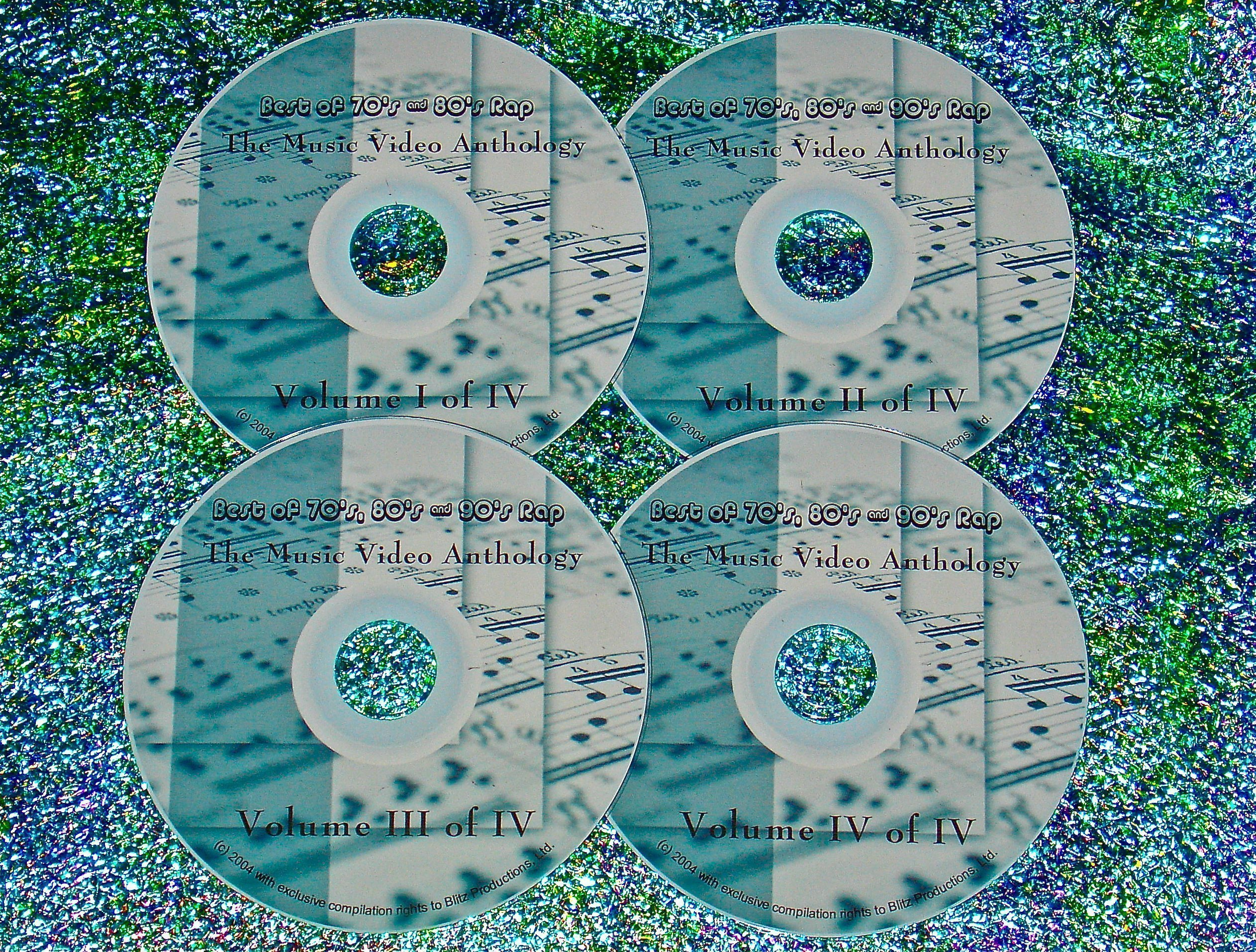 Best of 70's, 80's & 90's Rap Hip Hop Music Video Anthology Volume I to IV  (4 DVD Set 8 Hrs ) (Various Artists-A Tribe Called Boys Eric B  And Rakim