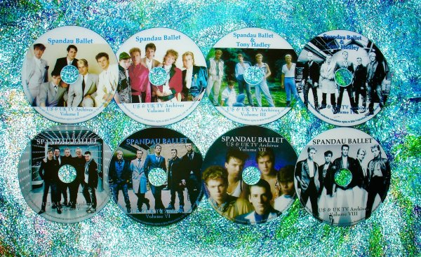 Spandau Ballet & Tony Hadley Video Archives 1981-2015 (8 DVD Set 15.5 Hours)