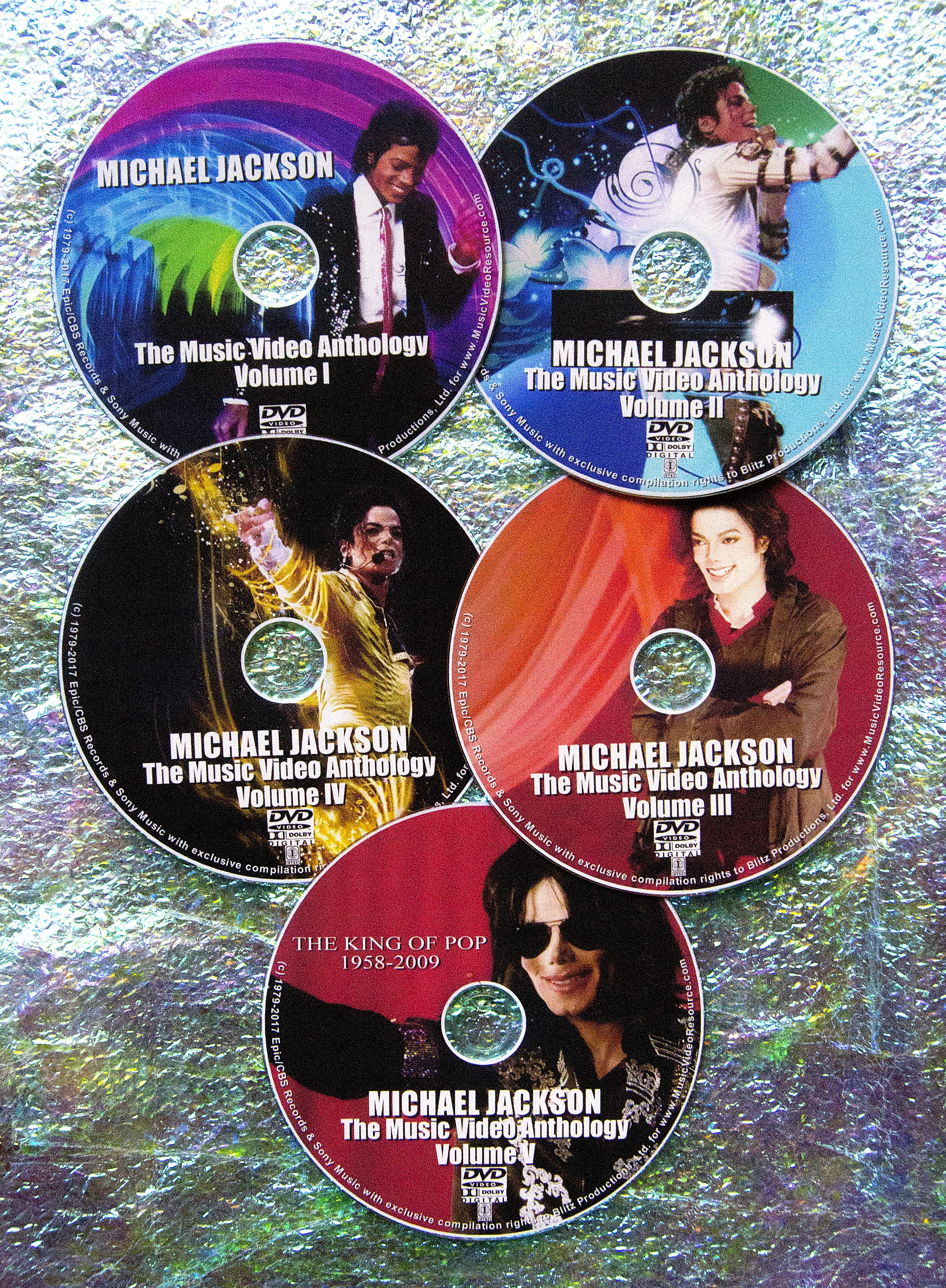 Michael Jackson THE Music Video Collection 1979-2016 (5 DVD Set OVER 8  Hours) INCLUDES THE LATEST FROM 2014's XSCAPE LP & MORE!!