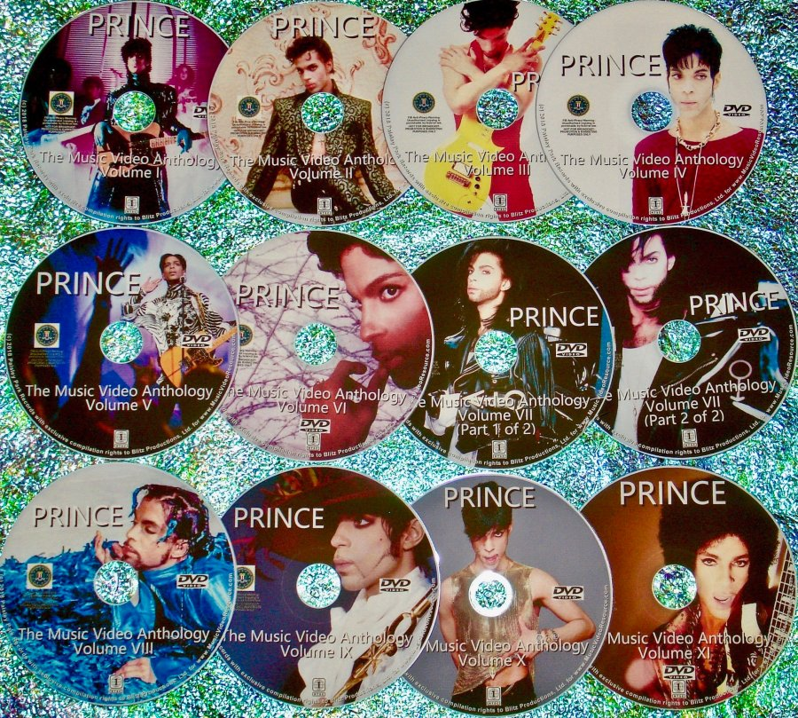 PRINCE The COMPLETE Music Video Anthology 1979-2015 12 DVD Set (Includes Alternate Versions, Remixes and Rarities in chronological order)
