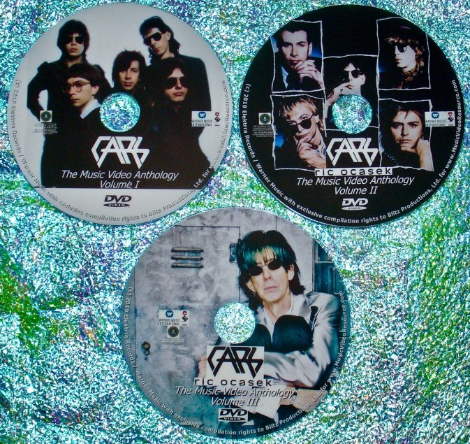 The Cars and Ric Ocasek The Music Video Anthology 1978-2018 3 DVD Set