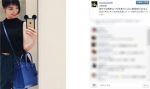 """篠田麻里子が黒髪にイメチェン、前髪は「シノラー」""""オンザ眉毛""""に"""