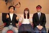 『コピンクス!2020』のナレーション収録に臨んだ左から藤巻直哉、浅川梨奈、ゲッターズ飯田