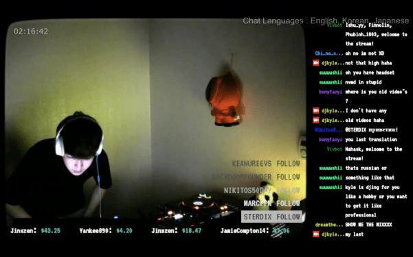 DJ live streaming on Twitch