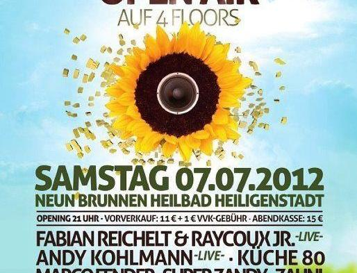ELECTRONIC SUNFLOWER OPENAIR 2012 !! 4 Floors , 30 Akts, @ Neun Brunnen <3