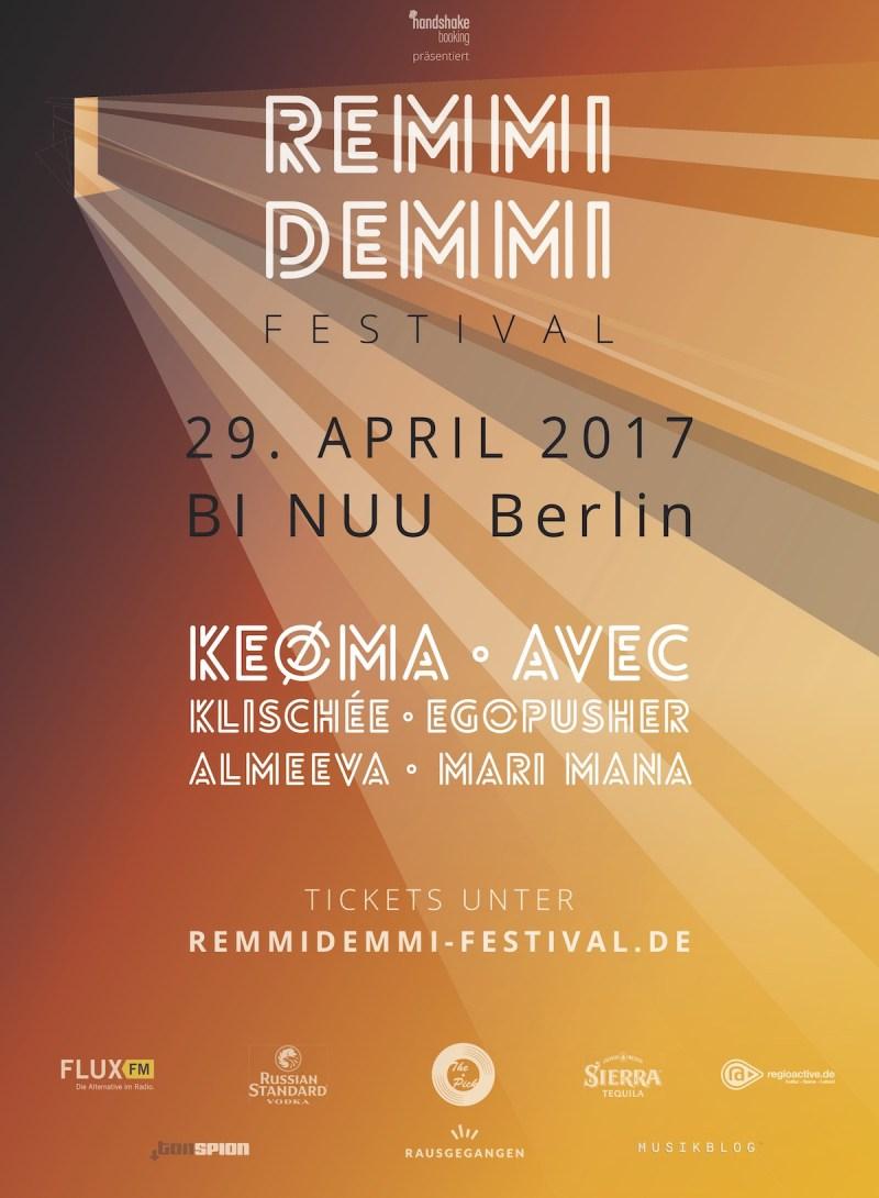 Remmi Demmi Festival 2017 (Tourposter)