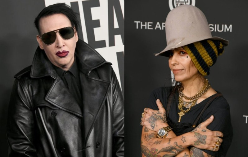 Marilyn Manson & Linda Perry (Credit Getty Images)