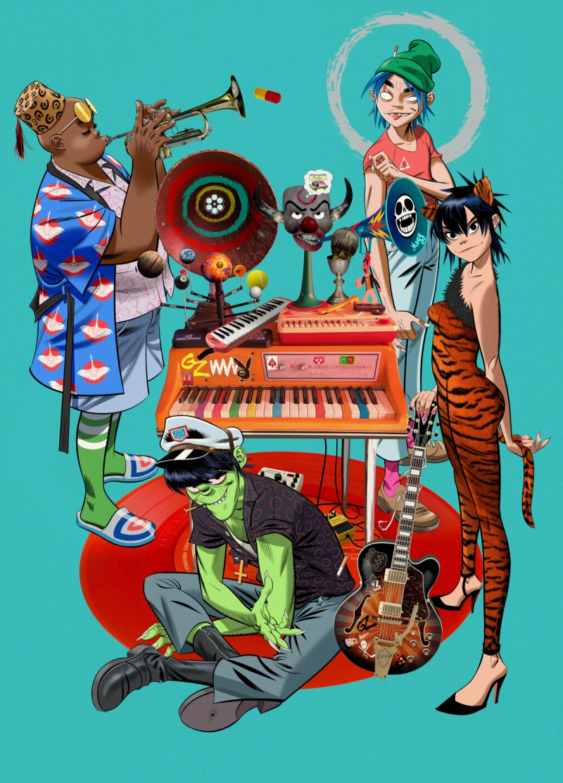 Gorillaz (Credit Warner Music Group)