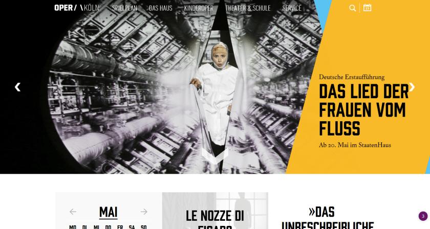 Website der Oper Köln. Screenshot vom 25.5.2017